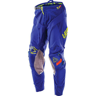 NEW Leatt 2017 Mx Gear GPX 5.5 IKS Knee Brace Blue Lime Adult Motocross Pants