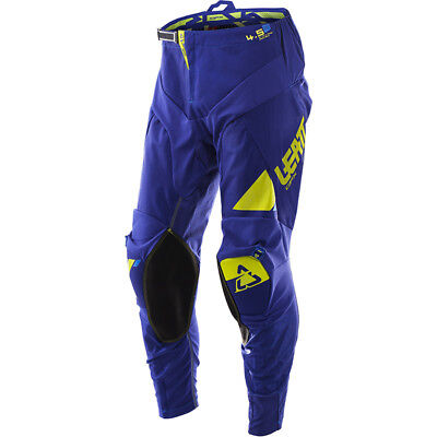 NEW Leatt 2017 Mx Gear GPX 4.5 Blue Lime Stretch Fit Dirt Bike Motocross Pants