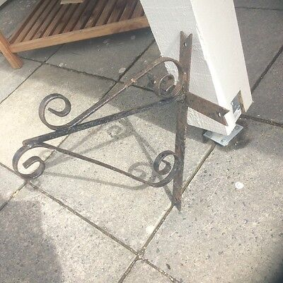Pair of Gallows Brackets- Estate blacksmith made- heavy