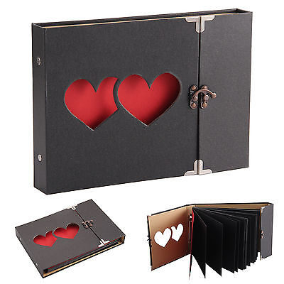 Hollowed Heart Love Photo Image Album Scrapbook DIY Craft Gift Anniversary