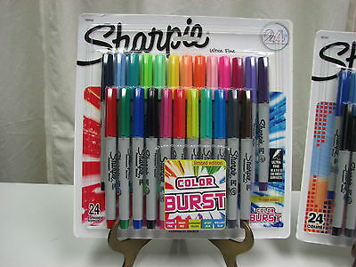 NEW COLOR BURST OR ELECTRO POP ULTRA FINE Sharpie 24ct Limited Ed.Perm. Markers
