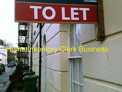 Set Up As A Lettings Home Inventory Clerk Business Details For Sale...[!@