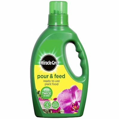 Plant Food Liquid 1L Pour & Feed Miracle-Gro Garden or Indoor