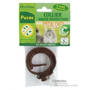 Collier anti puce spécial Chat