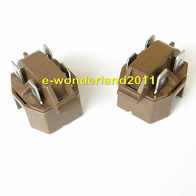 220V Start Relay Universal Refrigerator Freezer Compressor PTC IC-4 --Set of 2