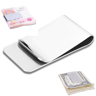 New High Quality Stainless Steel Slim Money Clip Credit Card Holder Wallet
