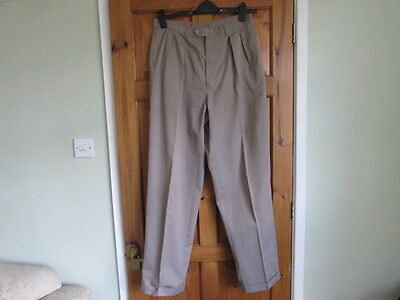 50s / northern soul twin pleated turn up trousers W 34 X L 33