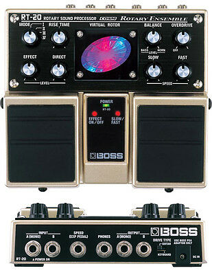 Boss Rt-20 Rotary Ensemble Sound Processor Twin Pedal & Power Supply
