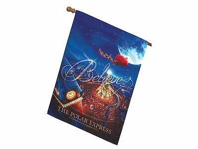 The Polar Express 'north Pole Tree' House Flag