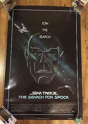 Star Trek III:The Search for Spock Original movie poster 27X41 Rolled Rare VF