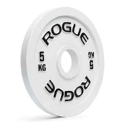 Rogue Powerlifitng Steel Plates White 5 KG 11lbs  Olympic Weight (Sold as Pair)