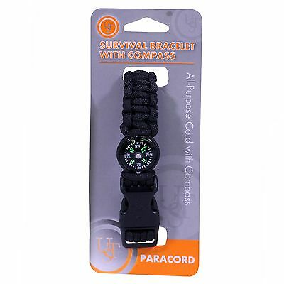 "Ultimate Survival Technologies Survival Bracelet 8"" Compass Black 20-295-345-E5"