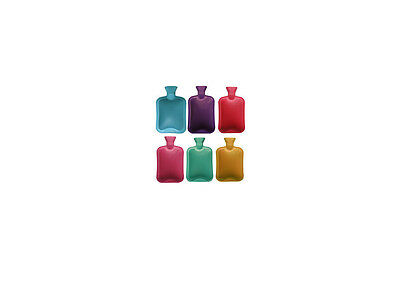 2L Litre Large Hot Water Bottle Natural Rubber Heat Cover Warmer all colors