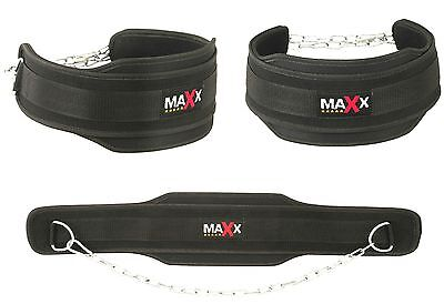 Maxx Dipping Belt Body Building Weight Lifting Dip Chain Exercise Gym Training g