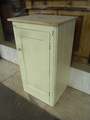 Small Victorian Antique Pine Painted Cupboard / Antique Painted Kitchen Cupboard