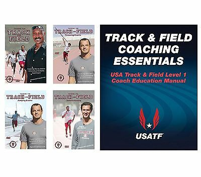 Track & Field Coaching Essentials Book and Training for Track and Field 4 DVDs