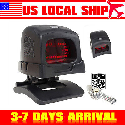Automatic USB Red LED Omni Directional 2D Barcode Scanner Handsfree Reader US!