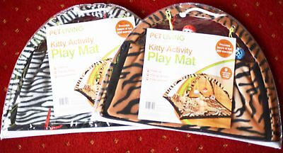 Cat/Kitten Fold Up Activity Play Mat  White/Brown!