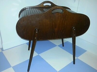 Vintage Sewing Box  Tambour Roll-top Mid-century 50s 60s
