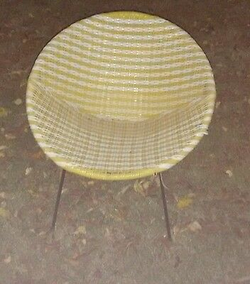 1960s vintage hoop chair with iron frame  legs