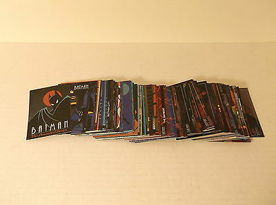 1993 Topps Batman The Animated Series 1 Complete 100 Trading Card Base Set
