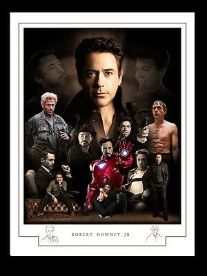 Robert Downey Jr  Montage Print