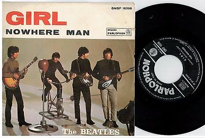 THE BEATLES Girl Nowhere man 45rpm 7' + PS 1966 ITALY EX+
