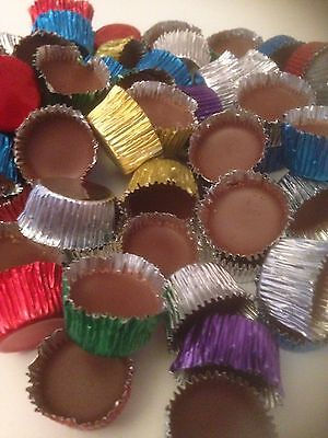 50 milk chocolate icy cups /retro sweets wedding favours  /party favours