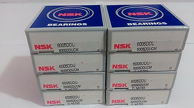 Lot of 8 pc. NSK 6005 DDUCM Deep Groove Bearing 25X47X12mm Rubber Sealed