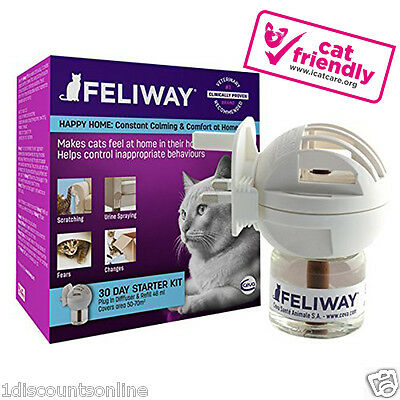 Feliway Diffuser Pack 48ml Plug In  Secret For Anxiety Relief &  happy Cats