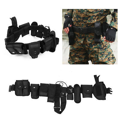 Police Officer Security Guard Law Enforcement Equipment Duty Belt Gear Nylon MX