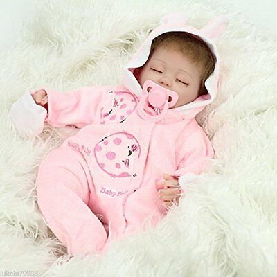 Reborn Baby Doll Girl Kids Pose Clothes Realistic Pacifier Infant 18 Inch Sleep