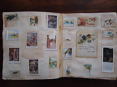 Very old Scrapbook Album Religious Art Scraps c275 Images on Card. Collection