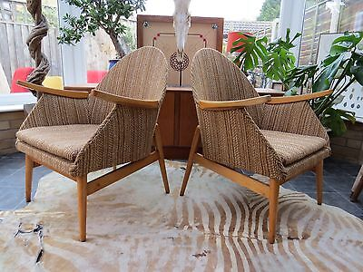 A Pair Of Vintage East German Cocktail Lounge Armchairs Circa 1965 Aug16-11