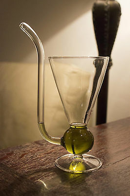 Handcrafted Absinthe Pipe Glass
