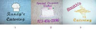 6 Polo Shirts 2XL- 3XL Embroidered Free4Ur Catering Company