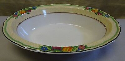 RARE! Antique Booths Silicon China England Floral Oval Veggie Serving Bowl 10.25