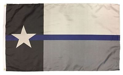 Thin Blue Line USA Flag From TEXAS 3x5 ft Support Police Back The Blue