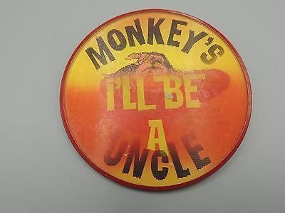 Vintage Disney Monkey's Uncle Flasher Pin Button 1964 Film Annette Rare