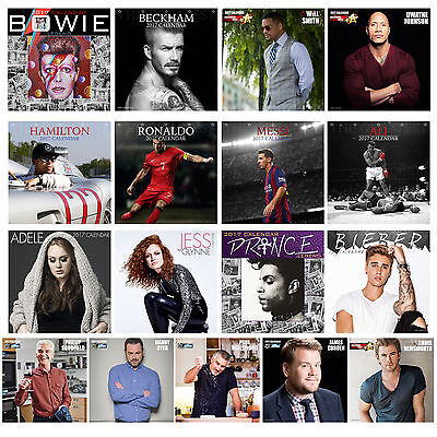 Unofficial 2017 Square 12 Month Celebrity Calendar (P) Choose Design
