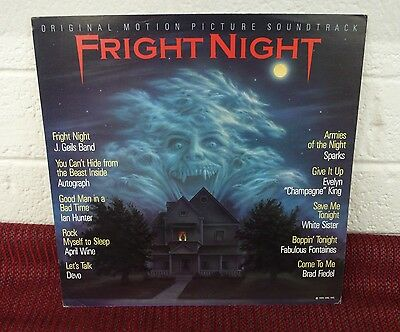 FRIGHT NIGHT Soundtrack Original 2 Sided Promo Poster Flat LQQK! Sparks Devo etc