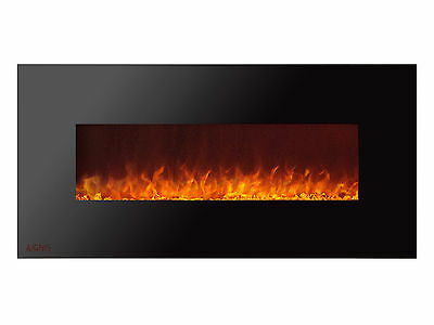 Ignis Royal 50 inch Electric Fireplace with Crystals, Remote Control, 750W-1500W