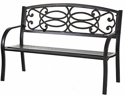 Garden Bench Patio Outdoor Furniture Porch Chair Park Seat Deck Cast New Wood