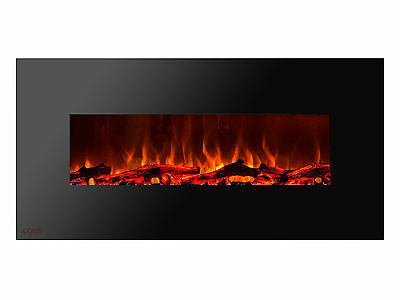 Ignis Royal 50 inch Electric Fireplace with Logs, Remote Control, 750W-1500W