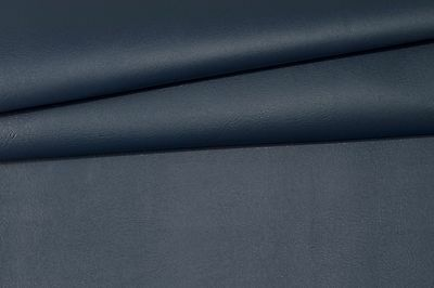 """VINYL PLUS NAVY BLUE Faux Leather Pleather Indoor Outdoor FABRIC BY YARD 54""""W"""