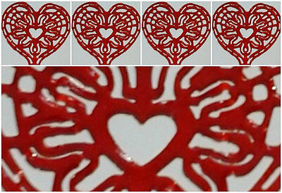 15 x HEART SHAPED LACE DOILIES - WEDDINGS, BIRTHDAY,NEW YEAR, EASTER