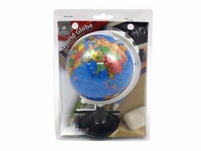 Educational Toys High Spinning World Globe Map Earth Kids Learn 10cm