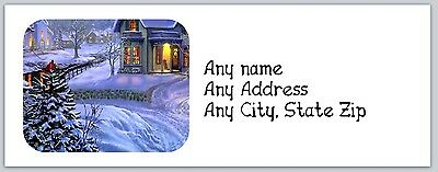 30 Personalized Return Address Labels Christmas Buy 3 get 1 free (ac268)