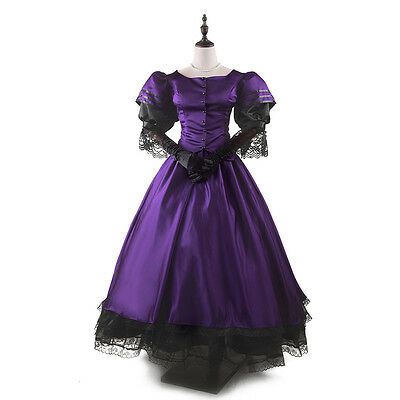 Victorian Medieval Renaissance Costume Dress Antique Gothic Theater Ball Gown