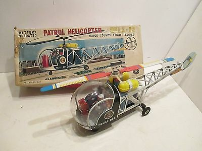 Bell 12 Helicopter Police Partol Near Mint In Box Battery Op Tested Works Good